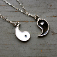 Set of 2 Best friends Yin and Yang Handcast by PenelopeMeatloaf