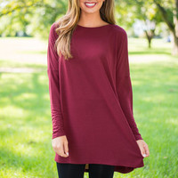 Plain To Chic Tunic, Maroon