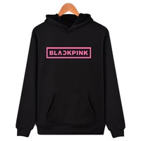 Korean KPOP Girl Group Blackpink Hoodies Sweatshirts Women Black Pink Hooded Sweatshirt Camisas Feminina KPOP Blackpink Clothes