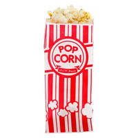 Popcorn Bags Red & White Striped (10)