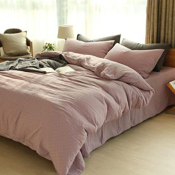 On Sale Bedroom Comfortable Hot Deal Home Bedding Double-layered Plaid Bed Sheet [11641282255]