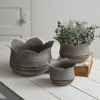Set of 3 Lotus Flower Containers