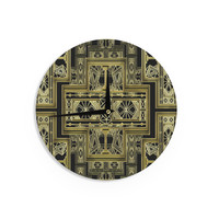 "Nika Martinez ""Golden Art Deco"" Wall Clock"