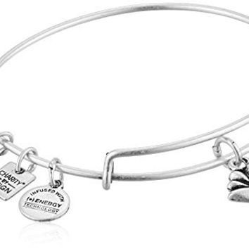 Alex and Ani Charity By Design Lotus Blossom Rafaelian Silver Bangle Bracelet