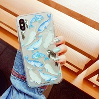 AXBETY Cartoon Dolphin Case For iPhone 6 S Case Fashion Ocean Whale Shark Pattern Cover For iPhone6 6s Cute Silicone Gel Fundas
