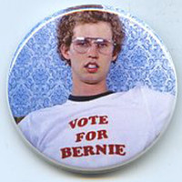 Vote for Bernie Sanders president button