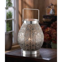 Silver Shimmer Candle Lantern