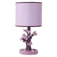Lambs & Ivy Plumberry Lamp, Plum, Pink, White