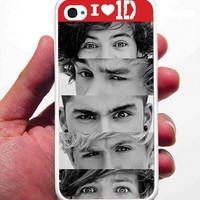 I Love One Direction iPhone Case - Rubber Silicone iPhone 4 Case or iPhone 5 Case - Free Screen Protector Included