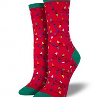 Christmas Lights - Graphic Crew - Women's Socks