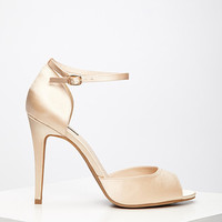 Satin Ankle-Strap Stilettos