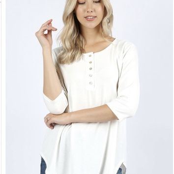 Henley Top (Ivory)