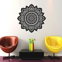 Mandala Wall Decal Namaste Indian Lotus Flower Yoga Wall Vinyl Decals Sticker Home Decor Mural Design Graphic Bedroom (6023)