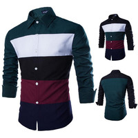 Color Blocked Casual Shirt