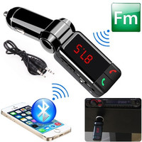 New Wireless Bluetooth Car Kit Dual USB Charger Handsfree MP3 Player FM Transmitter Black (Color: Black)