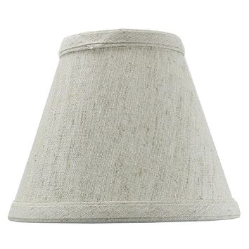 """6""""W x 5""""H Textured Oatmeal Chandelier Lamp Shade -"""