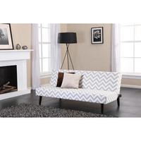 Walmart: Kinsley Chevron Futon, Gray and White