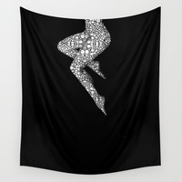 Suspended 2 - Nude Art By Sharon Cummings Wall Tapestry by Sharon Cummings