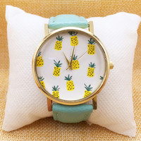 Summer Pineapple Printed Watch