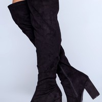 Milada Over The Knee Boots - Black