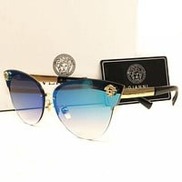 Samplefine2 Versace Stylish Ladies Men Personality Summer Sun Shades Eyeglasses Glasses Sunglasses Blue I