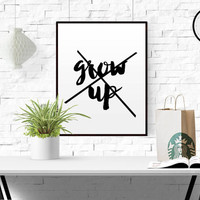 NURSERY WALL DECOR Don't Grow Up It's A Trap Funny Print Kids Quote Prints Typography Wall Decal Kids Room Decor Gift Kids Children Decor