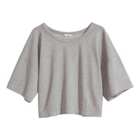 H&M - Sweatshirt Top - Gray melange - Ladies