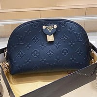 LV Louis vuitton Fashion New Monogram Leather Shopping Leisure Shaped Shoulder Bag Crossbody Bag Handbag Black