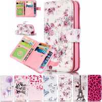 For Fundas iPhone 7 Flip Case Wallet Leather Phone Cases Cover For iPhone 6 plus 6splus iPhone7 Case Stand Purse Cover Card Slot