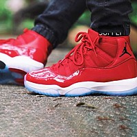 Air Jordan 11 Hot Sale Women Men Leisure Sneakers Sport Basketball Shoes Red
