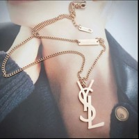 One-nice™ YSL Women Fashion Chain Plated Necklace Jewelry