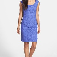 Adrianna Papell Cap Sleeve Lace Sheath Dress (Regular & Petite)