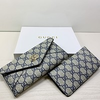 GG letter printed two-piece flip wallet long clutch Bag
