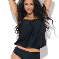 Grace Bay Two Piece Halter Tankini Black
