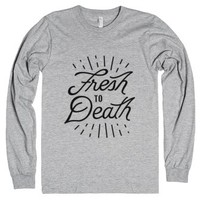 Fresh to Death-Unisex Heather Grey T-Shirt