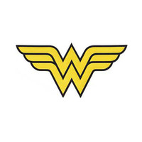 Wonder Woman Logo Large Embroidered Iron-On Patch