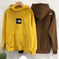 The North Face 2019 new men and women long sleeve hooded hoodie