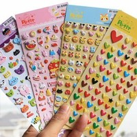Sprite Science™ 8 Sheets Cute Lovely 3D DIY Decorative Puffy Adhesive Sticker Tape / Kids Craft Scrapbooking Sticker Set for Diary, Album