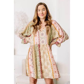 Go Your Own Way Boho Style Mini Dress