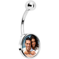 Custom Photo Belly Ring | Body Candy Body Jewelry