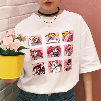 Sailor Moon Graphic Print T-Shirt