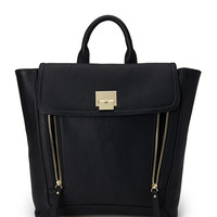 Faux Leather Trapeze Backpack