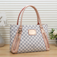 Louis Vuitton Women Shopping Leather Tote Handbag Shoulder
