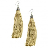 The Fringes ~ Sterling Silver & Rayon Earrings - The Rich Gold