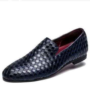Men's Dress Shoes  / Leather Loafers / Italian Style Shoes