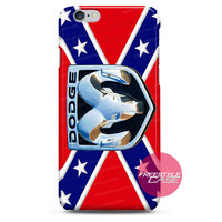 Rebel Flag with Dodge Ram Logo  iPhone Case Cover Series