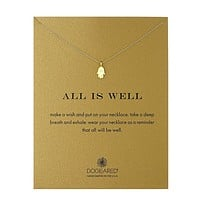 Dogeared - All is Well Hamsa Necklace, Gold Dipped