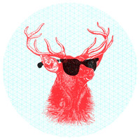 """Nick Nelson's """"Young Buck"""" Circle wall decal"""