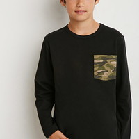 Boys Camo Pocket Tee (Kids)