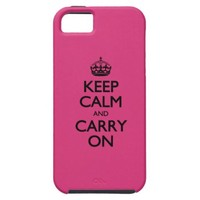 Cabaret Keep Calm And Carry On iPhone 5 Case